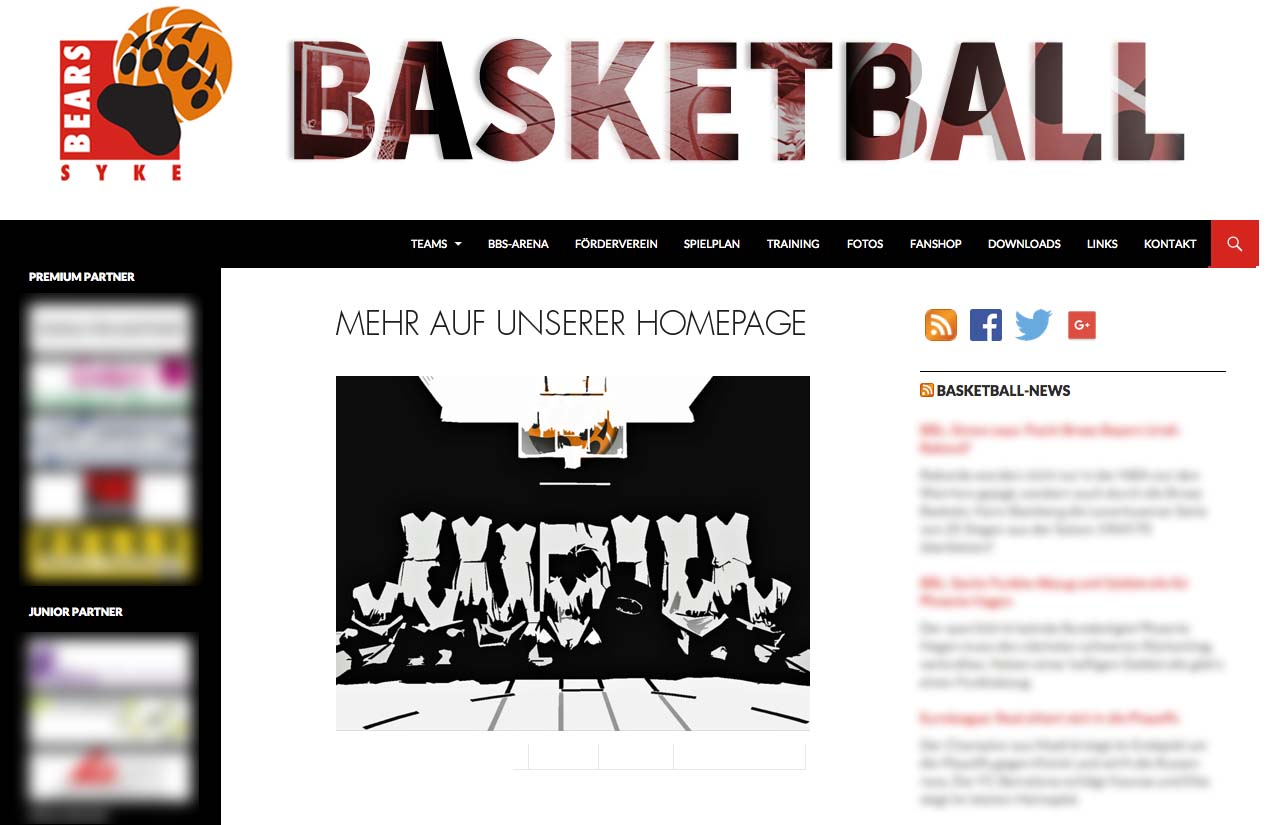 Website Basketball Tus Syke