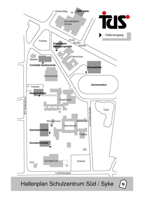 Der Hallenplan des Tus Syke e.V.
