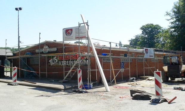 Bild der Dachsanierung am Vereinsheim Tus Syke
