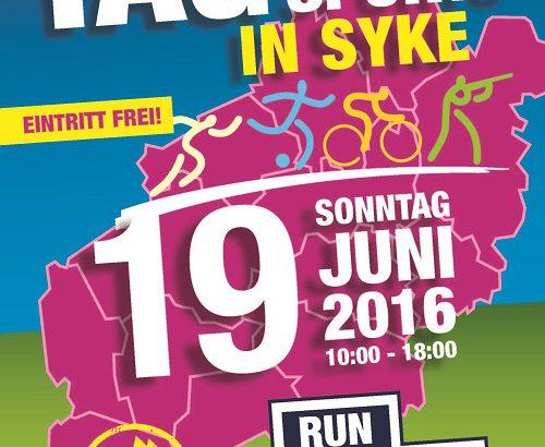 Plakat Tag des Sports