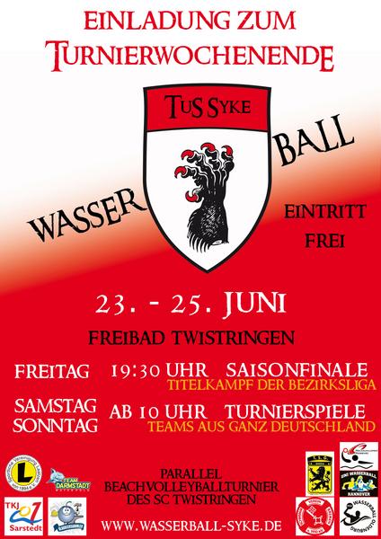 Wasserballturnier 2017 Plakat